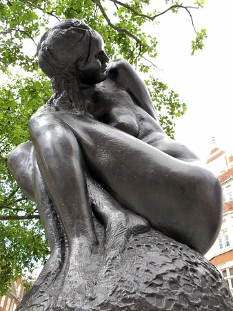 London,Mayfair UK, June 24 2011:Statue of Naked Lady by Italian artist Emilio Greco. Editorial