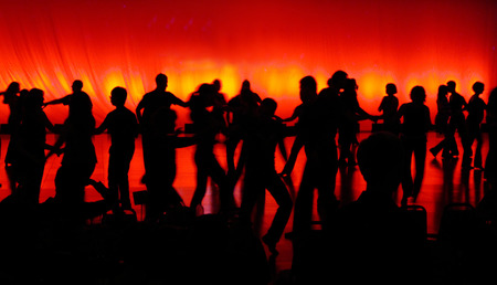 Dance Night In Silhouette