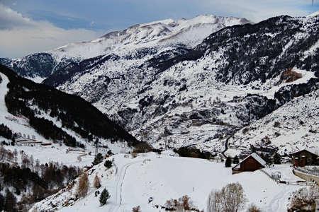 andorra: Valira River valley - Soldeu Andorra Stock Photo