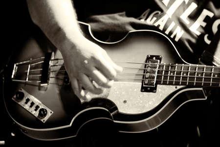 bass player: bass player Stock Photo