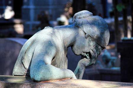 lia: Crying woman statue Stock Photo