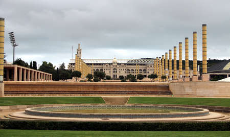 Barcelona, ??Olympic stadium and Europe square