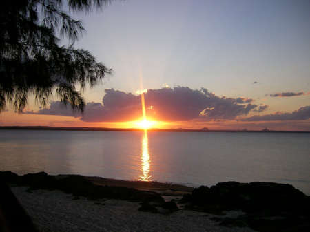Sunsets from nacala Stock Photo
