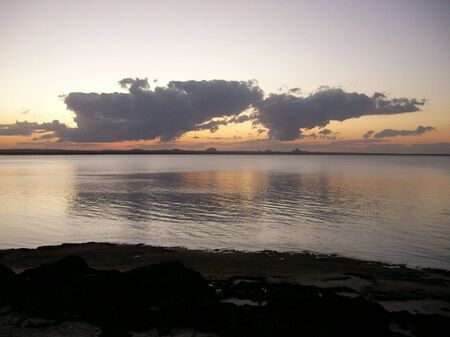 Sunset mirror from nacala photo