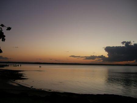 Dusk to Evening in Nacala Stock Photo