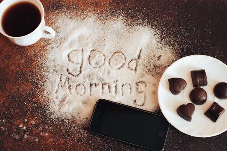 good morning chocolate Reklamní fotografie