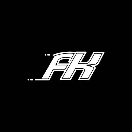 Initial FK logo design with Shape style, Logo business branding.