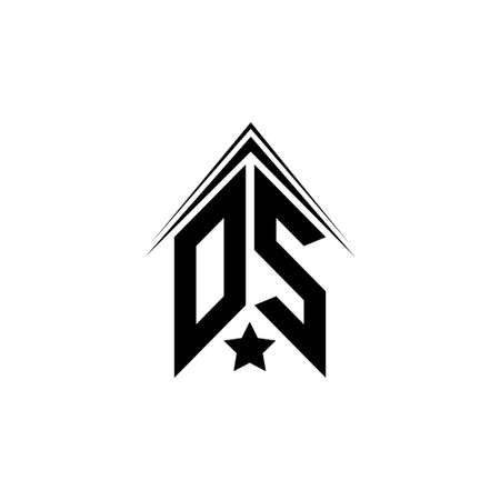 Initial OS, DS logo design with Shape style, Logo business branding. Logo