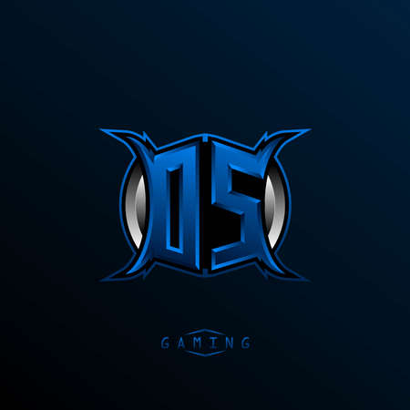 Initial DS logo design, Initial OS logo design with Cool style, Logo for game, esport, initial gaming, community or business. Logo