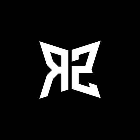 RZ Monogram logo letter with Cakra geometric shape style design isolated on black background, star geometric logo letter, monogram letter mandala Logó