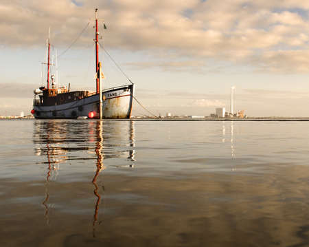 hight: Boat at Hight Tide Fano Denmark