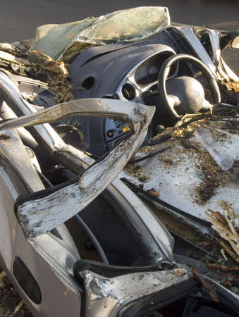 wrecked: wrecked car