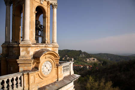 Basilica of Superga Turin Belltower with Clock photo