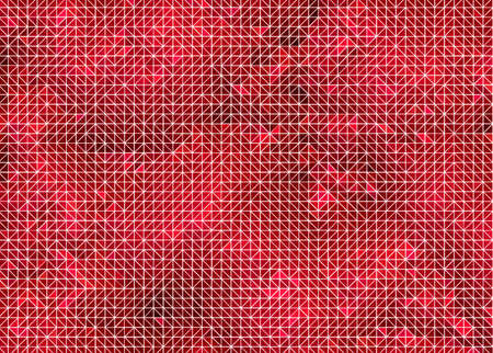 Flat Geometric Pattern with Pink Red Shading and a White Wireframe