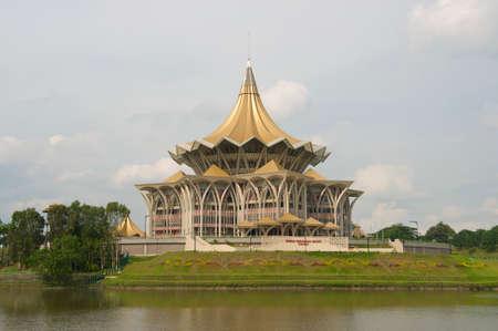 legislative: Kuching, Malaysia - August 26, 2009:  Sarawak State Legislative Assembly building in Kuching, Malaysia.