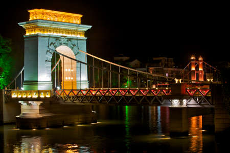 Bridge at night, Guilin, Guangxi, China Stock Photo