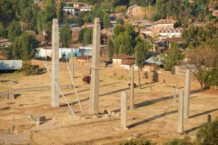 Axum obelisks, symbol of the Aksumite civilization, . Aksum, Ethiopia.