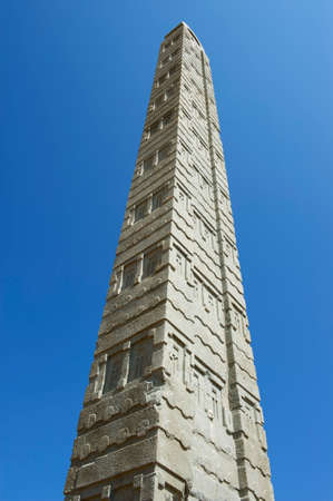 1st century ad: Aksum obelisks, symbol of the Aksumite civilization, the most powerful between the Eastern Roman Empire and Persia between the 1st and the 13th century A.D. . Aksum, Ethiopia.