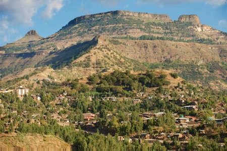 world heritage site: Town of Lalibela, Ethiopia. UNESCO World Heritage Site.
