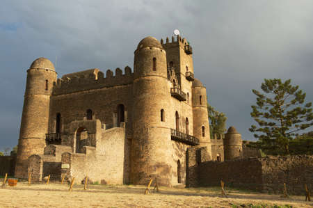 Medieval fortress in Gondar, Ethiopia