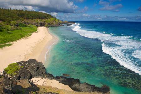 Gris-Gris sandy beach, Mauritius island.