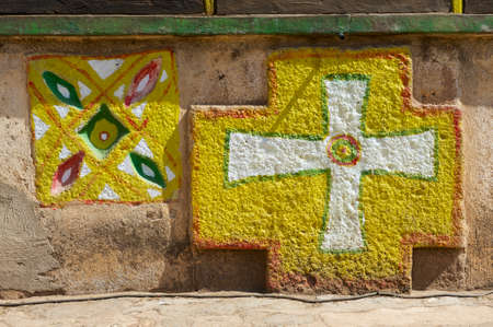 Wall Decoration Of The Church Of Our Lady Mary Of Zion, The Most ...