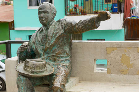 Valparaiso, Chile - October 19, 2013 : Monument to the famous Chilean poet Pablo Neruda in Valparaiso, Chile. Editorial
