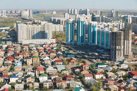 astana: Astana, Kazakhstan - September 25, 2011 : Aerial view to Astana city residential area buildings in Astana, Kazakhstan.