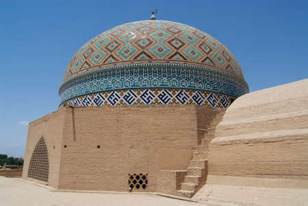 Cupola of the Jameh mosque, Yazd, Iran.