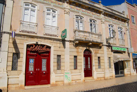 lagos: Lagos, Portugal - July 22, 2006 : Exterior of the traditional building in Lagos, Portugal. Lagos is a touristic destination town in Algarve, Portugal. Editorial