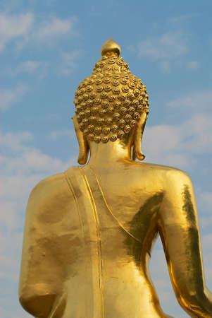sop: Exterior detail of the Golden Buddha, Ban Sop Ruak, Chiang Mai, Thailand.