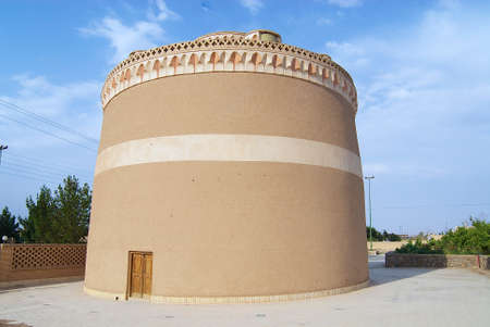 persia: Exterior of the traditional pigeon house in Meybod, Yazd province, Iran. Birds in Persia were important food source and were kept for their eggs, flesh and dung in specially built pigeon houses. Editorial