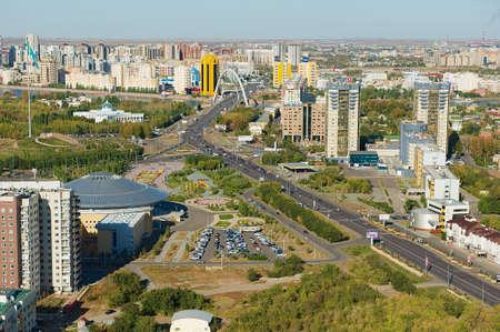 astana: Astana, Kazakhstan - September 25, 2011 : Aerial view to Astana city buildings in Astana, Kazakhstan.