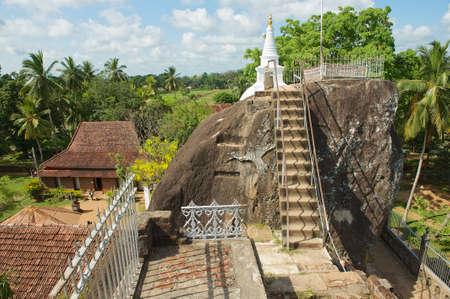 anuradhapura: Anuradhapura, Sri Lanka - May 19, 2011 : Exterior of the Isurumuniya rock temple in Anuradhapura, Sri Lanka.