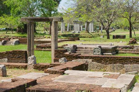 anuradhapura: ANURADHAPURA, SRI LANKA - MAY 19, 2011: Ruins of the Sacred city on May 19, 2011 in Anuradhapura, Sri Lanka. Sacred city of Anuradhapura is declared a UNESCO World Heritage site.