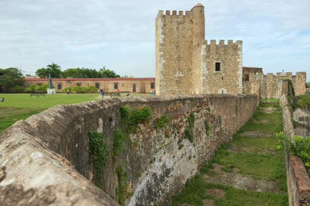 Santo Domingo, Dominican Republic - November 07, 2012 : Exterior of the Ozama Fortress in Santo Domingo, Dominican Republic. UNESCO World Heritage site.