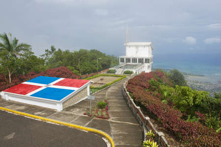 isabel: Puerto Plata, Dominican Republic - November 04, 2012 : Exterior of the upper air tram station at the top of Pico Isabel de Torres in Puerto Plata, Dominican Republic.