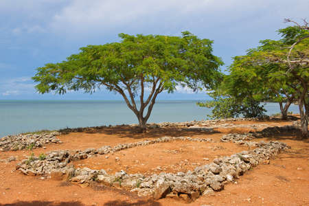 christopher: Puerto Plata, Dominican Republic - November 03, 2012 : Ruins of La Isabella settlement in Puerto Plata, Dominican Republic. La Isabella was founded by Christopher Columbus in 1493. Editorial