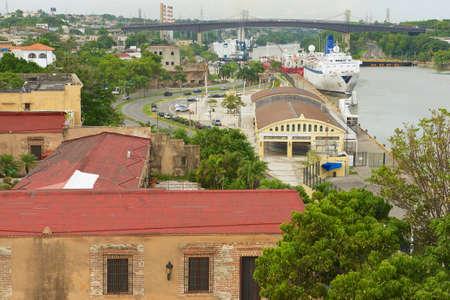 domingo: Santo Domingo, Dominican Republic - November 07, 2012 : View from the Ozama Fortress to the Ozama river side in Santo Domingo, Dominican Republic.