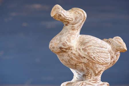 flightless bird: Wooden Dodo bird  typical souvenir from Mauritius island. Dodo is an extinct flightless bird that was endemic to the island of Mauritius.