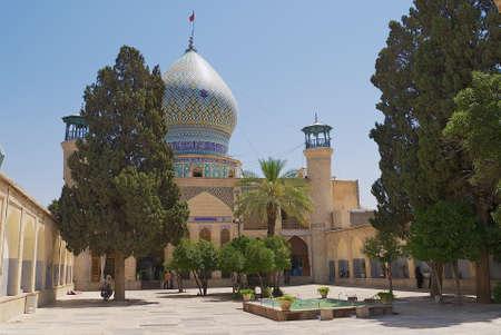 iran: Shiraz Iran June 20 2007: Exterior of the Emamzadehye Ali Ebne Hamzeh mosque in Shiraz Iran.