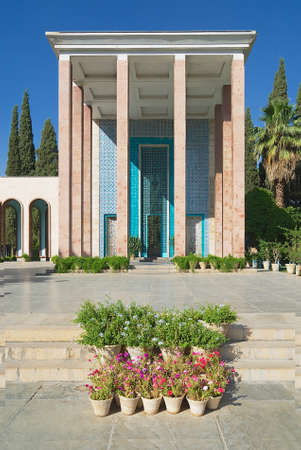 architectural tradition: Shiraz Iran June 20 2007: Exterior of the Saadi mausoleum in Shiraz Iran. Saadi was one of the famous Persian poets of the medieval period.