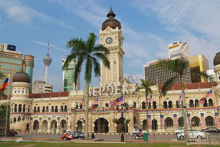sultan: Kuala Lumpur, Malaysia - August 11, 2008: Exterior of the Sultan Abdul Samad building at the Independence square in Kuala Lumpur, Malaysia.