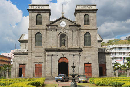 immaculate conception: Port Louis, Mauritius - November 29, 2012: Exterior of the church of Immaculate Conception in Port Louis, Mauritius.