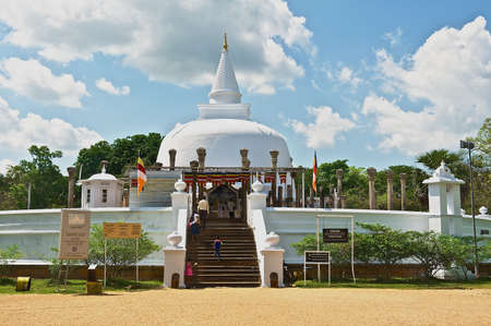 anuradhapura: Anuradhapura, Sri Lanka, May 19, 2011 - People go to Lankarama stupa in Anuradhapura, Sri Lanka. Editorial