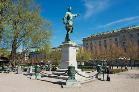 karl: Stockholm, Sweden - April 28, 2011: Exterior of the statue of Charles XII Karl XII in Stockholm, Sweden. Editorial