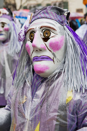 clique: Basel, Switzerland, March 02, 2009 - People take part in Basel Carnival in Basel, Switzerland. Editorial