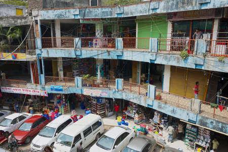 Dhaka, Bangladesh, February 22, 2014 - People do shopping at the Old market gallery in Dhaka, Bangladesh. Editorial