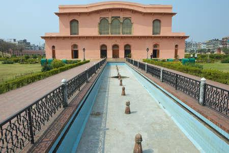 Dhaka, Bangladesh - February 22, 2014: Exterior of the Historical Museum Building of The mausoleum of Bibipari in Lalbagh Fort, Dhaka, Bangladesh
