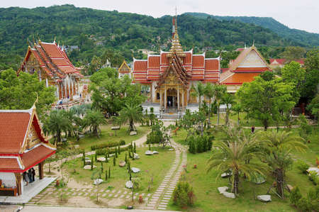 Phuket, Thailand - April 27, 2010: View to the Chalong Temple at Phuket island. Editorial